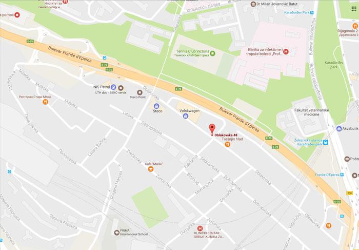 infektivna klinika beograd mapa Park d.o.o   Kontakt | Park d.o.o infektivna klinika beograd mapa